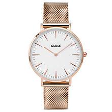 Cluse Ladies' La Bohème Rose Gold Plated Mesh Bracelet Watch - Product number 6426972