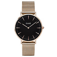 Cluse Ladies' La Bohème Rose Gold Plated Mesh Bracelet Watch - Product number 6426980