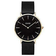 Cluse Ladies' La Bohème Black Mesh Bracelet Watch - Product number 6427006
