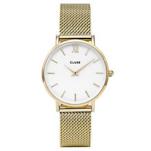 Cluse Ladies' Minuit Gold Plated Mesh Bracelet Watch - Product number 6427154