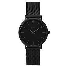Cluse Ladies' Minuit Black Mesh Bracelet Watch - Product number 6427162