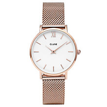 Cluse Ladies' Minuit Rose Gold Plated Mesh Bracelet Watch - Product number 6427170