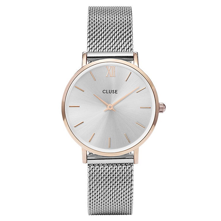 Cluse Ladies' Minuit Stainless Steel Mesh Bracelet Watch - Product number 6427227