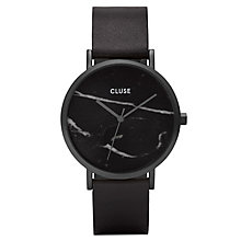 Cluse Ladies' La Roche Black Leather Strap Watch - Product number 6427251
