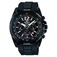 Casio Edifice Men's Black Rubber Strap Watch - Product number 6427618