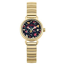 Cath Kidston Navy Dial Gold Expandable Watch - Product number 6428274