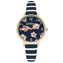 Cath Kidston Floral Print Navy Dial Strap Watch - Product number 6428428