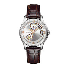 Hamilton Viewmatic men's brown leather strap watch - Product number 6430724
