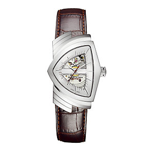 Hamilton Ventura brown leather strap watch - Product number 6430759