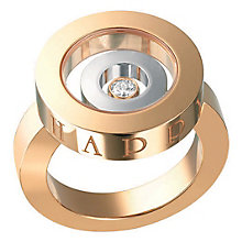 Chopard Happy Spirit 18ct Rose Gold Diamond Ring - Product number 6432328