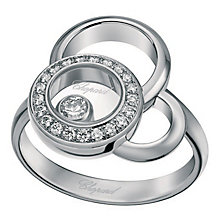 Chopard Happy Diamonds 18ct White Gold 0.23ct Diamond Ring - Product number 6432395