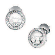 Chopard Happy Diamonds 18ct White Gold Diamond Stud Earrings - Product number 6432689