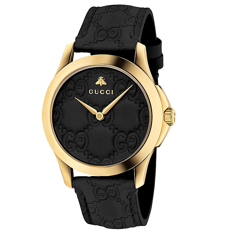 Gucci G-Timeless Ladies' Gold Plated Strap Watch - Product number 6433049