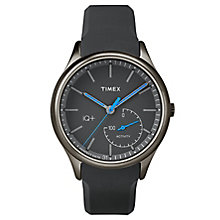 Timex Men's IQ+ Move Black Dial Black Silicone Strap Watch - Product number 6433758