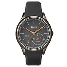 Timex Men's IQ+ Move Dark Grey Silicone Strap Watch - Product number 6433766
