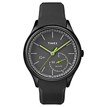 Timex Men's IQ+ Move Black Dial Black Silicone Strap Watch - Product number 6433774