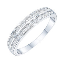 9ct white gold 0.25ct diamond eternity ring - Product number 6434967