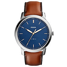 Fossil Men's Brown Leather Strap Watch - Product number 6439942