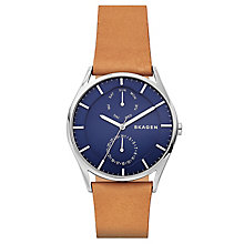 Skagen Men's Holst Multifunction Brown Leather Strap Watch - Product number 6440096
