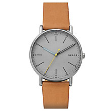 Skagen Men's Signatur Brown Leather Strap Watch - Product number 6440126