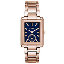 DKNY Ladies' Rectangle Rose Gold Plated Bracelet Watch - Product number 6440169