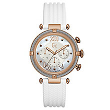 Gc Ladies' CableChic White Silicone Strap Watch - Product number 6440274