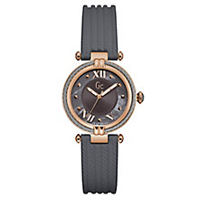 Gc Ladies' CableChic Grey Silicone Strap Watch - Product number 6440398