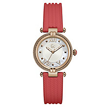 Gc Ladies' CableChic Orange Silicone Strap Watch - Product number 6440401