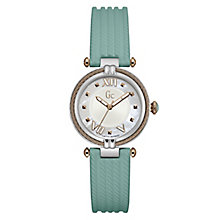 Gc Ladies' CableChic Green Silicone Strap Watch - Product number 6440428