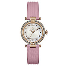 Gc Ladies' CableChic Pink Silicone Strap Watch - Product number 6440436