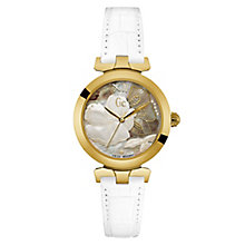 Gc Ladies' LadyBelle White Leather Strap Watch - Product number 6440487