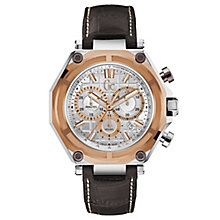 Gc Gc-3 Sport Men's Brown Leather Strap Watch - Product number 6440525