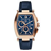 Gc Men's RetroClass Blue Leather Strap Watch - Product number 6440576