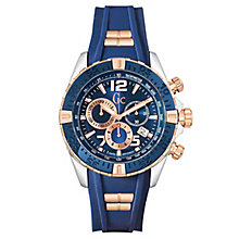 Gc Men's SportRacer Blue Silicone Strap Watch - Product number 6440606