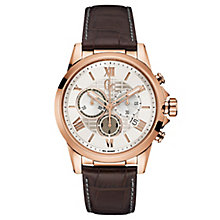 Gc Men's Esquire Brown Leather Strap Watch - Product number 6440622