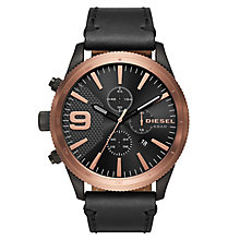 Diesel Men's Black Leather Strap Watch - Product number 6440754