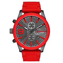 Diesel Men's Red Silicone Bracelet Watch - Product number 6440770