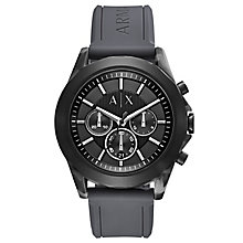 Armani Exchange Men's Grey Silicone Strap Watch - Product number 6440894