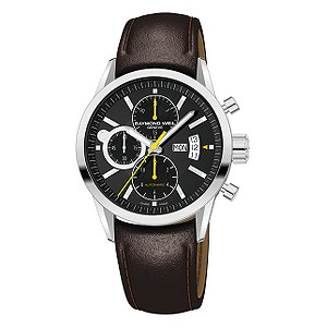 Raymond Weil Freelancer men's brown leather strap watch - Product number 6444342