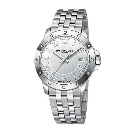 Raymond Weil Geneve men's silver dial bracelet watch - 5599-ST-00658