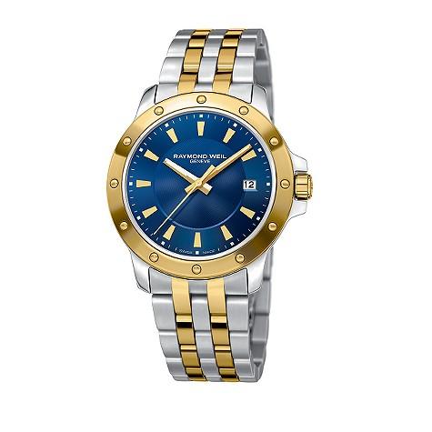 Raymond Weil Tango two colour gold bracelet watch