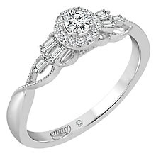 Emmy London Platinum Gold 1/4ct Diamond Halo Ring - Product number 6446264