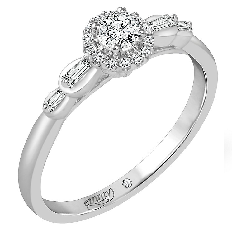 Emmy London 9ct Palladium 1/4ct Diamond Ring - Product number 6446795