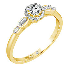 Emmy London 18ct Yellow Gold 1/4ct Diamond Ring - Product number 6447066