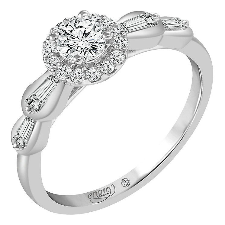 Emmy London Pallladium 1/2ct Diamond Ring - Product number 6449212