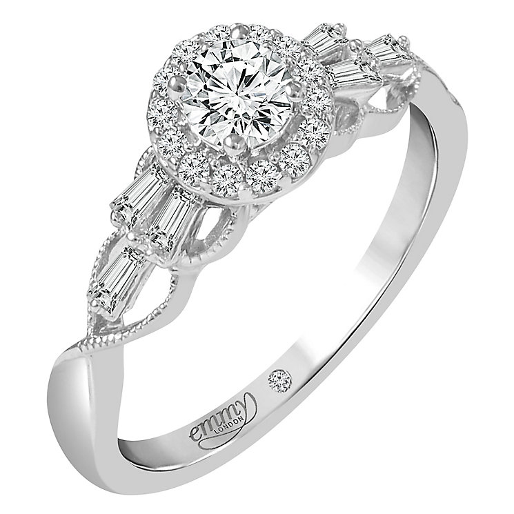 Emmy London Platinum 1/2ct Diamond Halo Ring - Product number 6450237