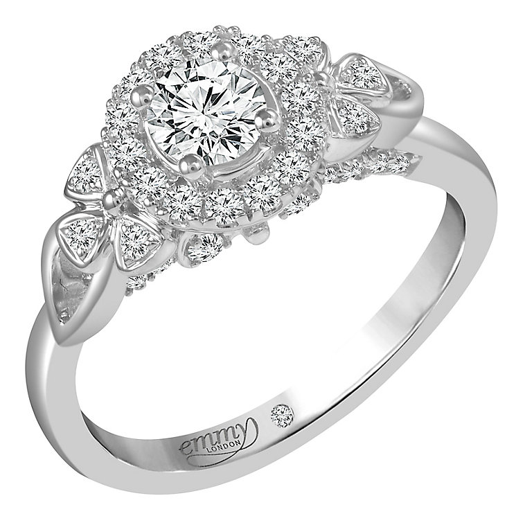 Emmy London Platinum 0.66ct Round Cut Diamond Set Ring - Product number 6450997