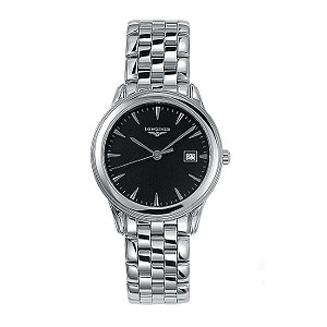 Longines Flagship mens stainless steel bracelet watch
