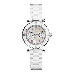 Gc ladies' mother of pearl dial bracelet watch - 34mm dial - Product number 6463843