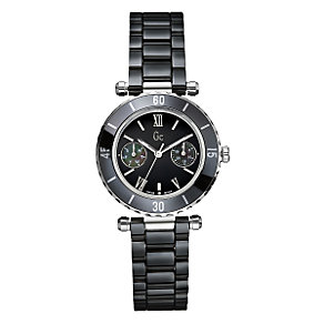 Gc ladies' black dial bracelet watch - 34mm dial - Product number 6463851